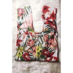Floral Banana Republic Pants